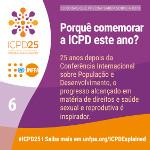 Porquê comemorar a ICPD este ano?