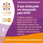 O que ainda pode ser alcançado pela ICPD?